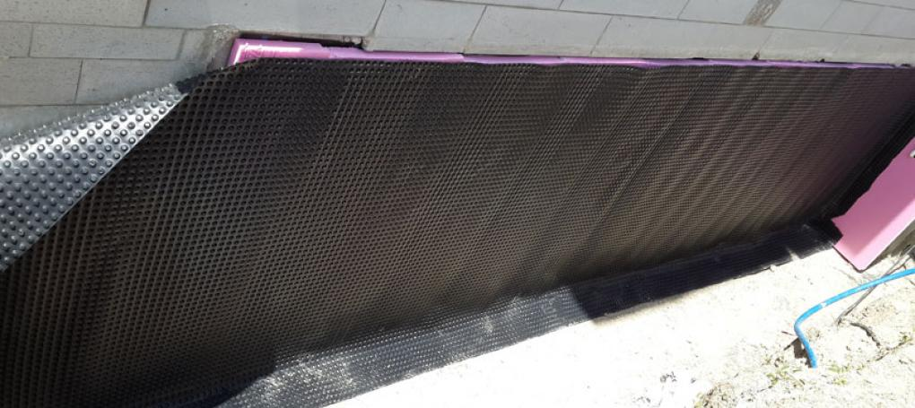 Damp Proofing Membrane for Protection of Waterproofing and Drainage