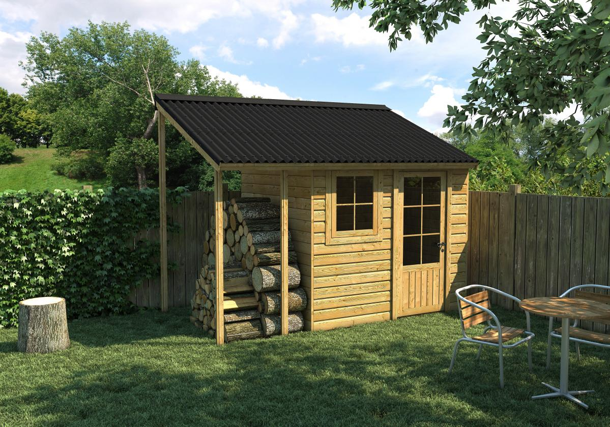 Garden Shed  Easyline Intense Black corrugated roofing sheet