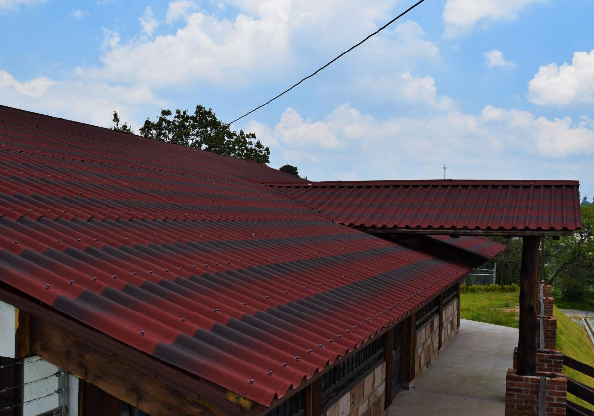 Onduline TIle Red House roof