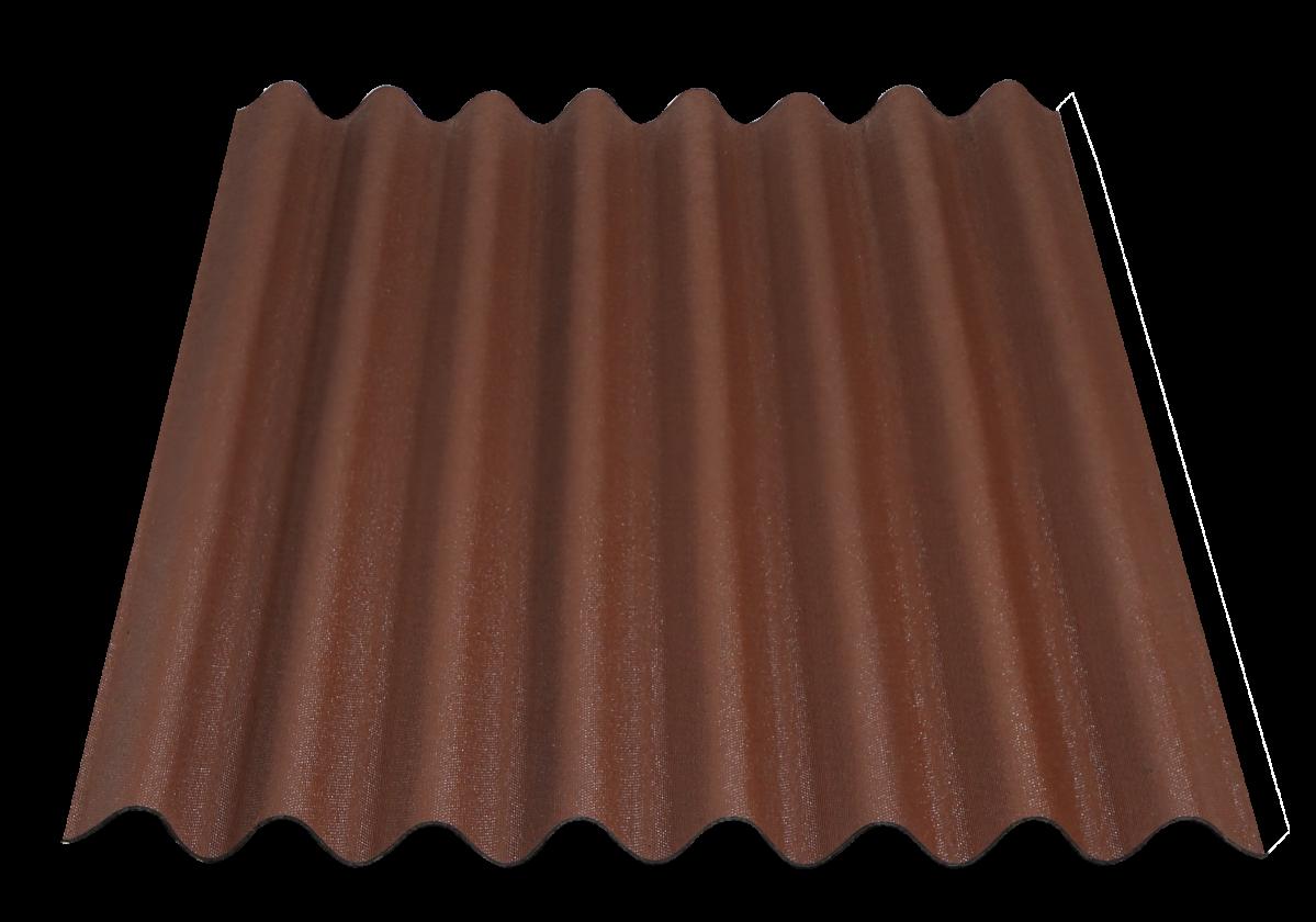 Onduline Easyline bitumen sheet Intense Brown packshot